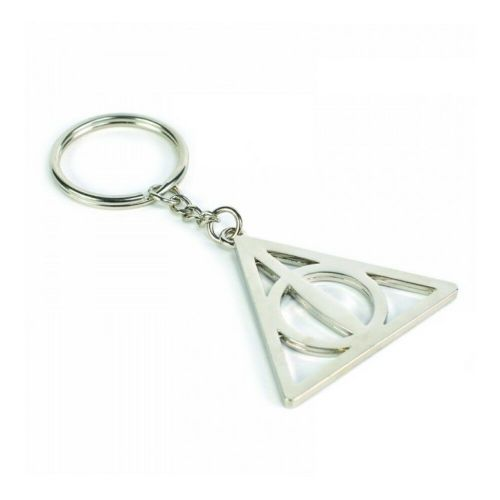 Harry Potter Deathly Hallows Keyring Metal Keychain Fob
